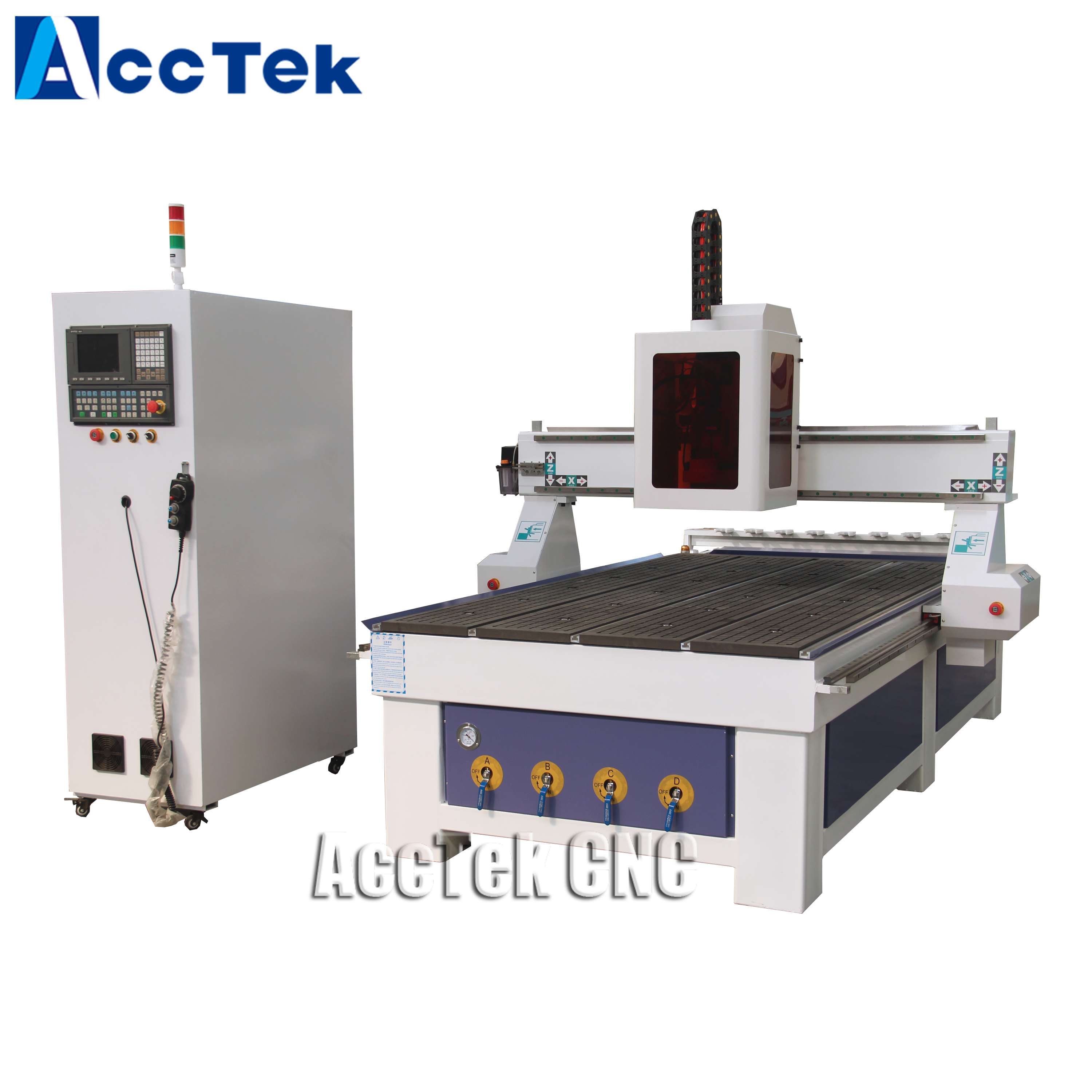 China Automatic 9kw Air ATc Spindle Motor 3d Wood Carving Cnc Router Machine With Hiwin Guide Rails