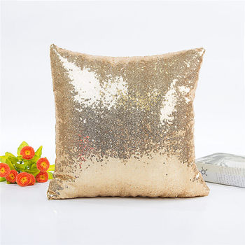 Gold Sequin Throw Pillow 3
