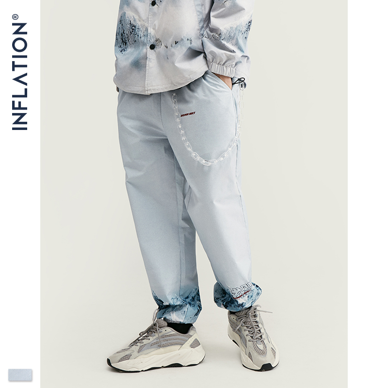 Image 5 - INFLATION 2020 DESIGN Casual Loose Fit Blazer with Print  White Color Streetwear Men Suit Fashion Style  Terno Masculino BlazersMens Sets   -