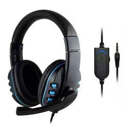 Проводная геймерская гарнитура 3,5 мм, глубокие басы, Накладные наушники с микрофоном, проводные наушники HiFi, наушники для XBOX ONE/SWITCH