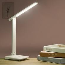 9 Вт сенсорный светодиодный настольный светильник с сенсорным управлением Регулируемая яркость USB Перезаряжаемый светодиодный светильник для чтения с защитой глаз Прямая поставка