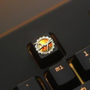 Image 5 - 1pc Zinc Aluminium Alloy Key Cap Mechanical Keyboard keycap for DNF Dota 2 OW PUBG Genji R4 Height Stereoscopic relief