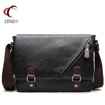 2021 Brand Casual Men Briefcase Business Shoulder Bag Pu Leather Messenger Bags Computer Laptop Handbag Bag Men Travel Bags 1
