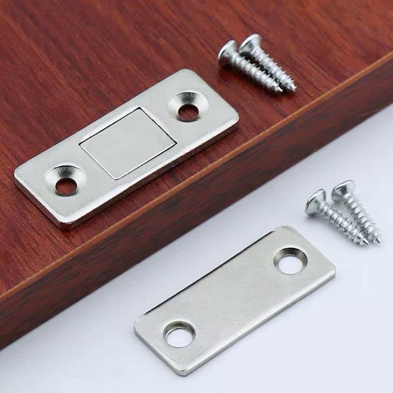 Myhomera 2pcs/Set Magnetic Cabinet Catches Magnet Door Stops Hidden Door Closer With Screw For Closet Cupboard Furniture DIY
