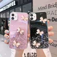for iPhone 11 Pro 12 Pro Mini Case on iPhone 7 8 6 6S Plus SE 2020 Cover Silicon Glitter Butterfly for iPhone XR X XS Max Bumper