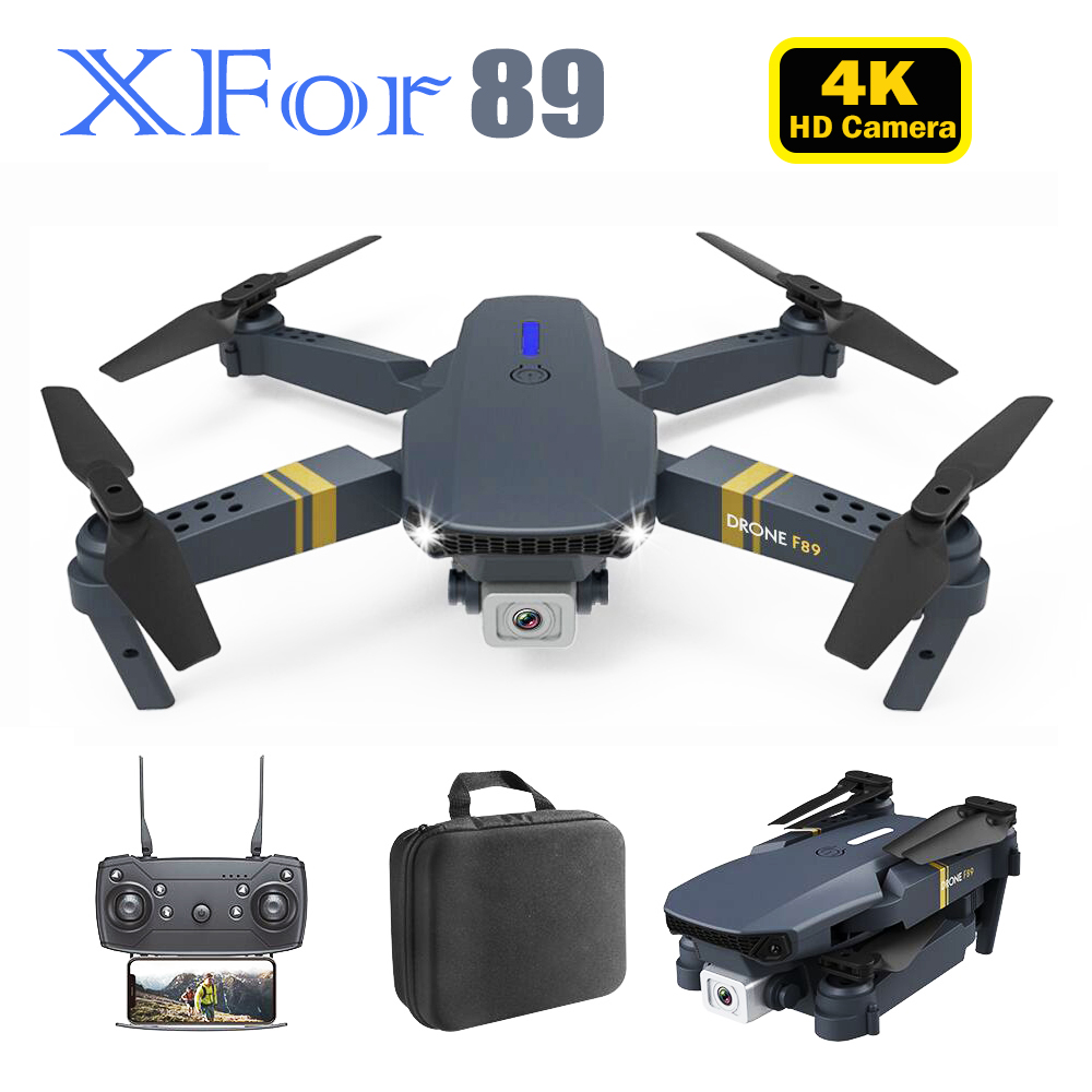 XFor-89 Radio Control Drone Small Foldable Quadcopter with 4K Dual Wifi Camera 1