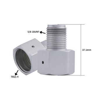 2pcs/lot Co2 Thread Adapter Female TR 21*4 Sodastream Bottle Soda Cylinder to Male 5/8-18UNF Regulator for Aquarium Homebrew