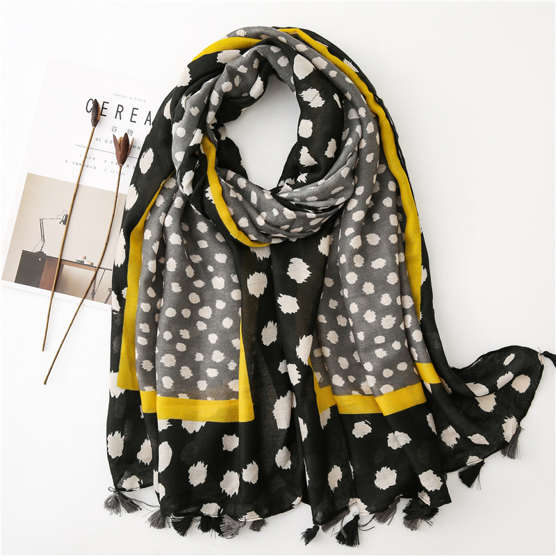 2019 Fashion Geometric Paisley Tassel Viscose Shawl Scarf Lady High Quality Wrap Pashmina Stole Bufandas Muslim Hijab 180*90Cm