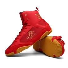 Размеры 35-46, боксерская обувь для мужчин и женщин, амортизирующие мягкие сапоги для боя, унисекс, резиновая подошва, дышащие кроссовки D0876