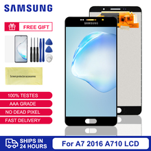 100% Test For Samsung Galaxy A7 2016 A710 A710F LCD Display Touch Screen Digitizer Assembly