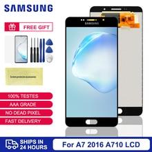 100% Test For Samsung Galaxy A7 2016 A710 A710F LCD Display