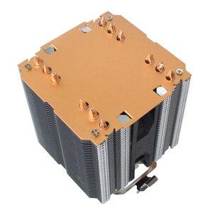 Image 5 - X79 X99 chłodnica procesora 4pin wentylator 115X 1366 2011 6 heatpipe podwójna wieża chłodzenie 9cm wsparcie fanów Intel AMD RGB ARGB wentylatory ryzen
