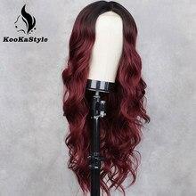 Perruques synthétiques longues ondulées pour femmes noires, rose/rouge, avec Division naturelle, sans colle, résistantes à la chaleur, pour Cosplay
