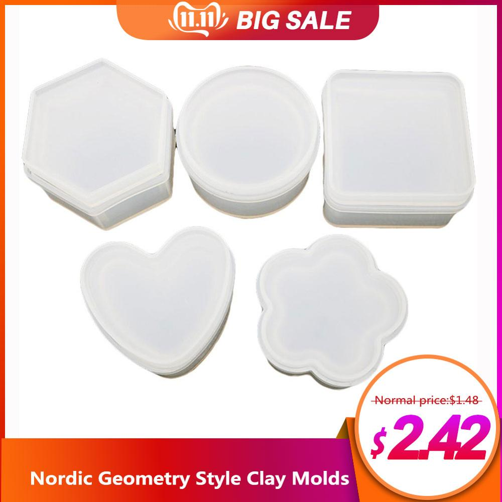 Silicone Mould Nordic Geometry Style Mould DIY Tools Storage Box Mold for Car Decoration #AW(China)