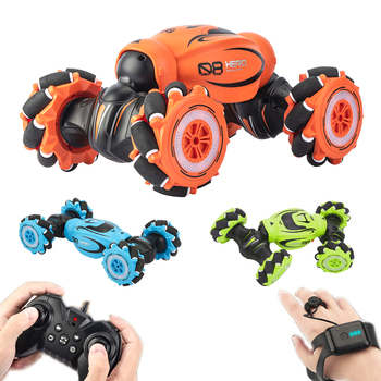 2020 NEW Remote Control Stunt Car Gesture Induction Twisting Off-Road RC Cars Vehicle Light Music Drift Dancing Side Driving Toy