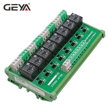 GEYA DIN Rail Panel Mount 8 Channel Interface Relay Module 12V 24V for Automation PLC Board fuse module din rail mount 8 channel fuse power distribution module board