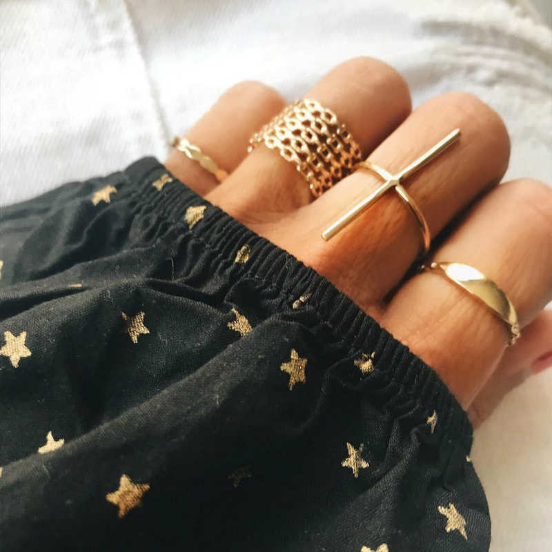 New Fashion Jewellery Rings For Women Combination Ring Set Adjustable Vintage Lord Of The Rings Punk Wholesale