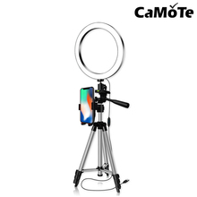 6inch 8inch 10inch Halo Table Usb Beauty Video Studio Photo Circle Lamp Dimmable Selfie Led Ring Light With Tripod Stand Black
