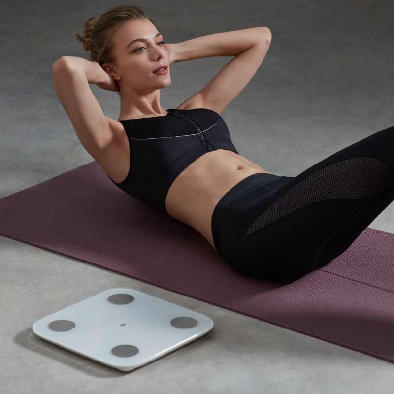 الأصلي شاومي الذكية الجسم الدهون تكوين مقياس 2 بلوتوث 5.0 التوازن اختبار 13 تاريخ الجسم BMI الصحة الوزن مقياس LED العرض