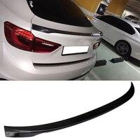 P stil gerçek karbon fiber sandıklar Boot Spoiler F16 X6 BMW için Fit