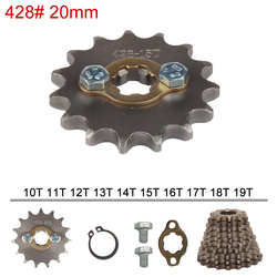 428 Chain 20mm 10 11 12 13 14 15 16 17 18 19 Teeth Front Engine Sprockets For 50 110 125 160cc Dirt Pit Bike ATV Quad Motorbike