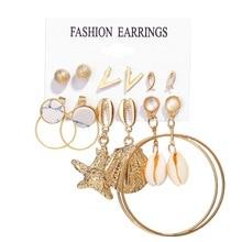 Trendy Earrings Set 6 Pairs Earings Stud Statement Earrings Big Drop Earrings Jewelry Earrings for Women Pearl Earings Gold 2020 trendy earrings set 6 pairs earings stud statement earrings big drop earrings jewelry earrings for women pearl earings gold 2020