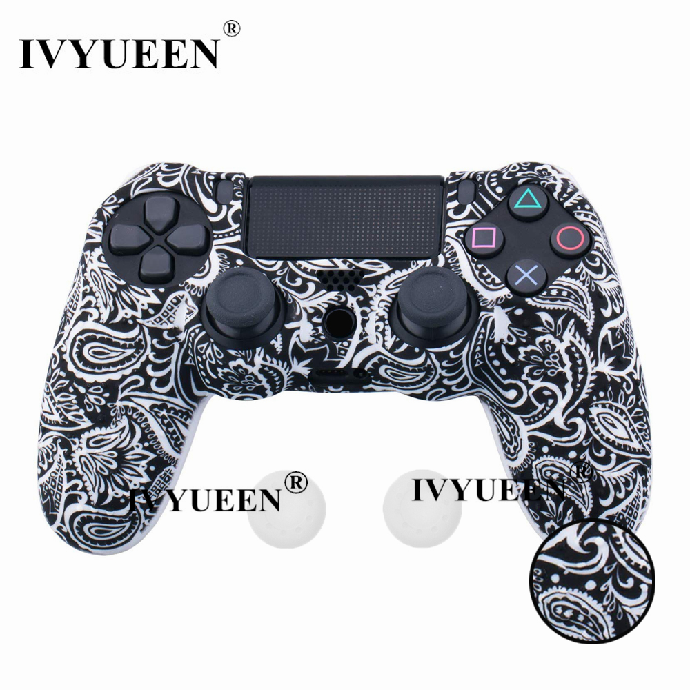 for PlayStation 4 ps4 Pro slim controller silicone case skin 09