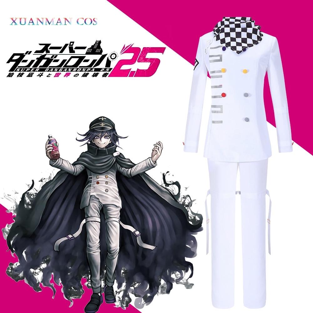 Uniform Pants Outfit Cloak Cosplay-Costume Danganronpa Kokichi Ouma Fancy Halloween