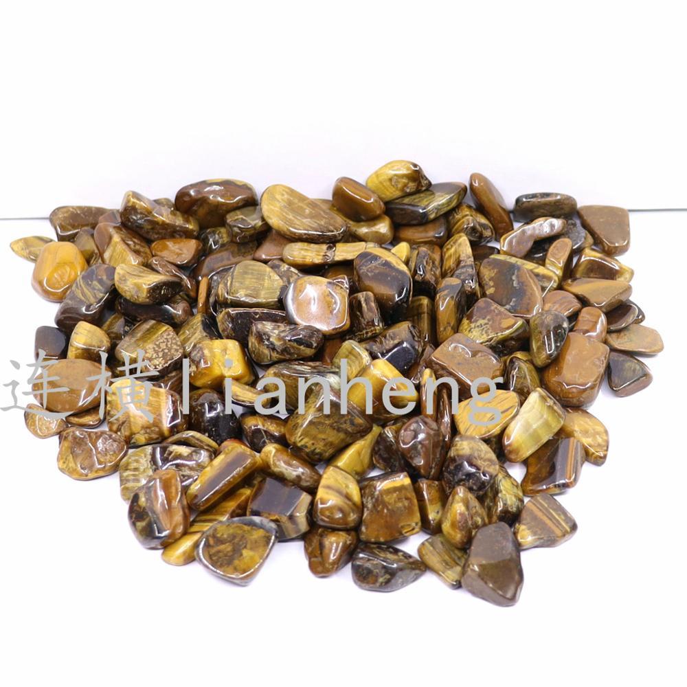 9-12mm doğal kaplan gözü taş Reiki şifa demagnetizasyon çakıl dekorasyon akvaryum taş yastık
