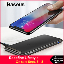 Baseus Qi Wireless Charger For iPhone Xs Max XR Samsung S9 Note 10 Xiaomi Desktop Wireless Charger Wireless Charging Pad Station все цены
