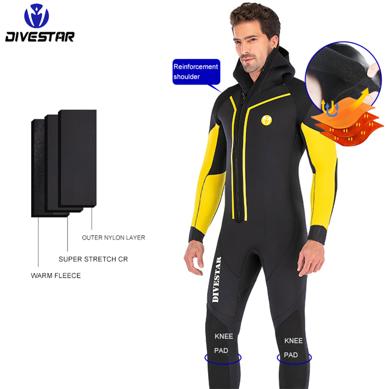 Image 3 - 7mm Neoprene Spearfishing Wetsuit Full Body Front Zip Keep Warm Diving Suit For Men Underwater Hunting Swimming Surfing WetsuitsWetsuit   -