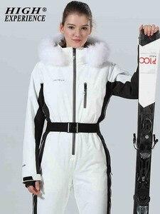Image 4 - スキースーツ女性のスキージャケットの女性のスキージャンプスーツスノーボードスーツ冬のスポーツのスーツスキースノーボードセット雪服