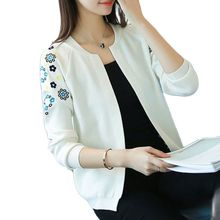 Knit a female cardigan The new 2021 autumn fashion short woman with a small shawl embroidered cardigan sweater coat