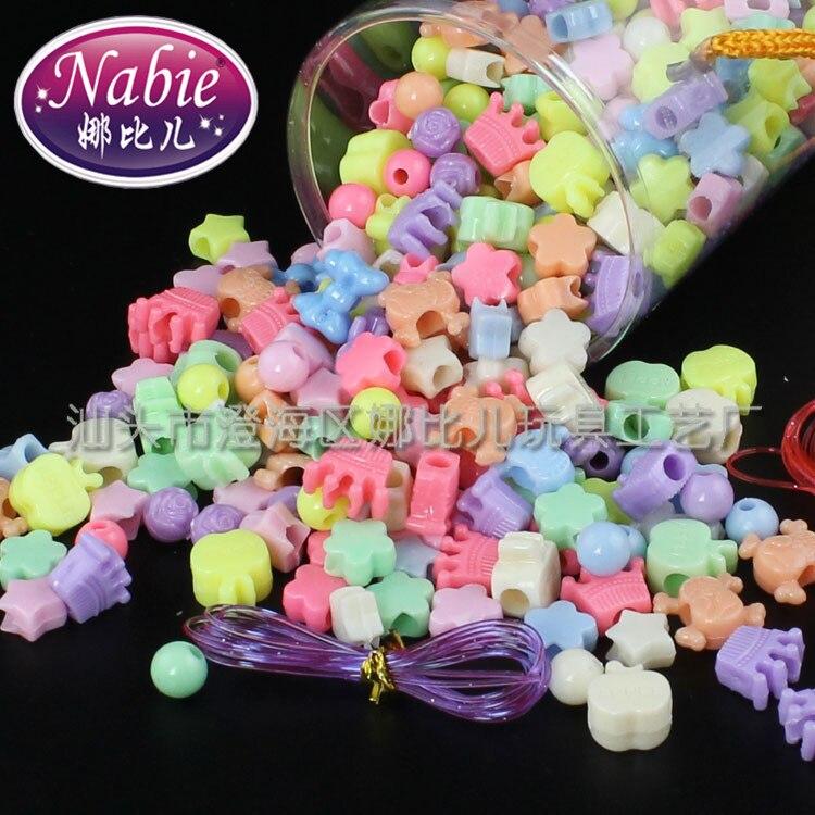 Shi Se Zhu Cylindrical Beads Box Set DIY Shi Se Zhu Children Handmade Beaded Bracelet Educational Toy