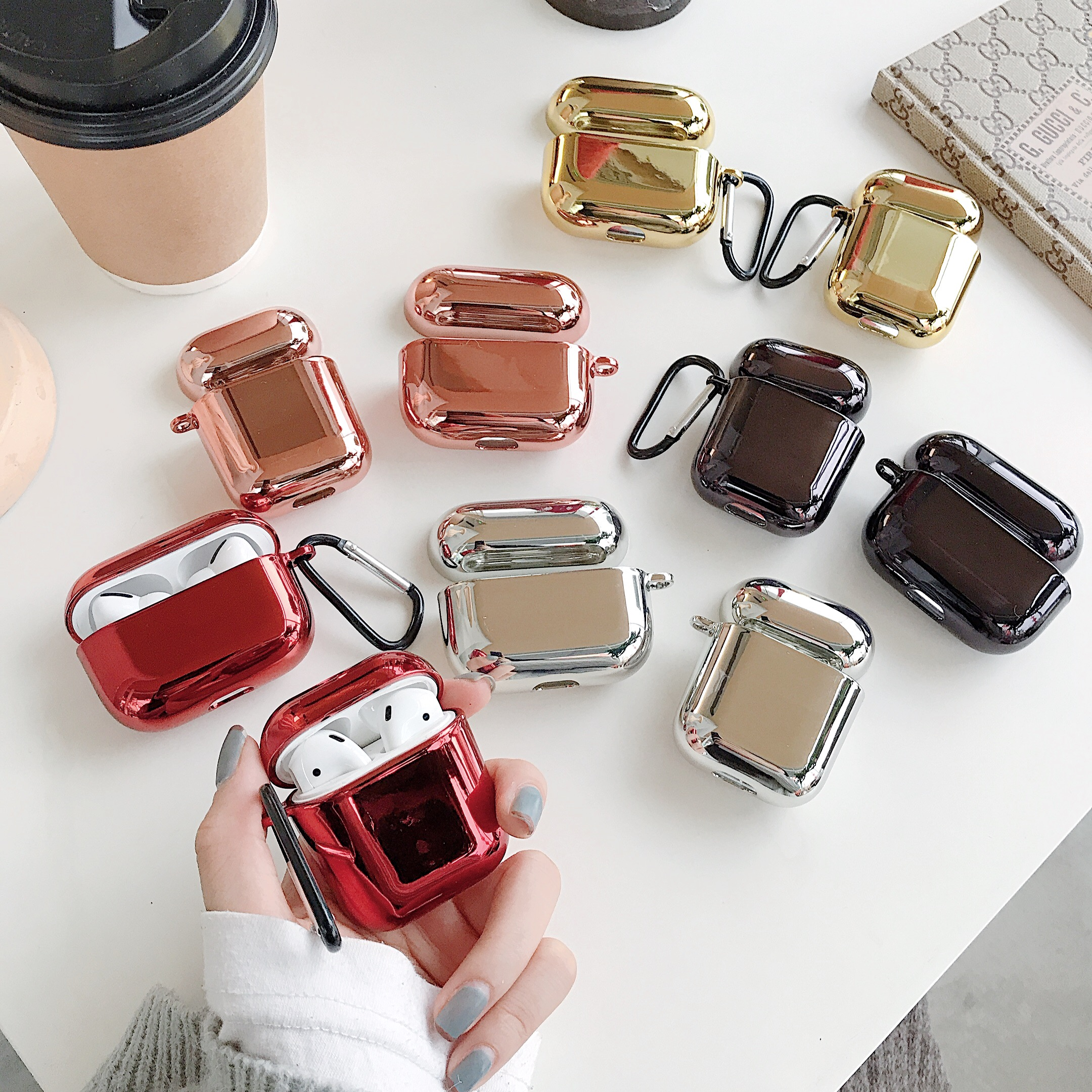Luxury Plated Wireless Earphone Case For Airpods 1 2 PC Hard Electroplated Protective Mirror Cover For Airpods Pro Aird Pods 3