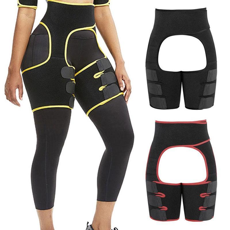 Fahion Women Body Shapers Three-in-one Sports Abdomen Belt Hips Sweat Belt Waistband Bodybuilding Belt Latex Waist Trainer