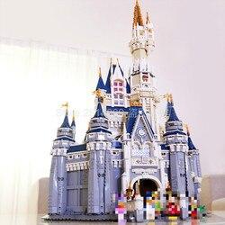 16008 Cinderella Prinzessin Burg Stadt Modell 4080Pcs Building Block Kind Spielzeug Für Kinder Geschenk Film 71040