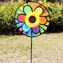 1pc Sunflower Windmill Whirling Wind Spinner Home Yard Garden Decor Kids Child Toy