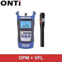 ONTi набор инструментов для оптического волокна FC/SC коннектор VFL OPM оптический измеритель мощности лазерный источник и Визуальный дефектоскоп 1/10/20/30 мВт 5 30 км