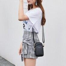 Новая модная сумка для телефона из искусственной кожи, женская сумка через плечо, кошелек для монет, вместительная Минималистичная Портативная сумка-мессенджер