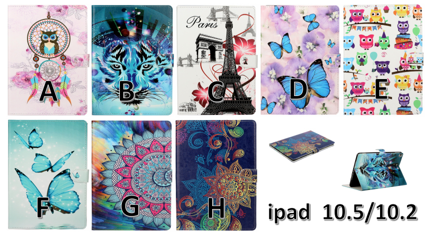 Stand iPad Case iPad For 10.2 7th Sleep For PU inch Leather Smart Auto Cover Folio 2019