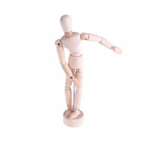 11.4 cm, 14 cm, 20cm artiste membres mobiles mâle en bois jouet figurine modèle Mannequin bjd Art croquis dessiner des figurines de jouet d'action