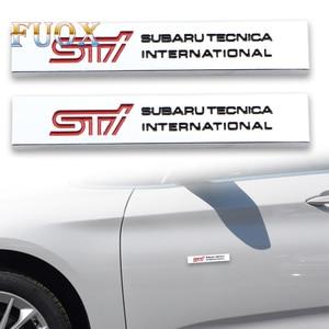 2 uds accesorios de moda 3D para coche, Metal de aluminio STI emblema insignia pegatina para Alpha Romeo Giulietta myth no. 147 159 Car-Styling