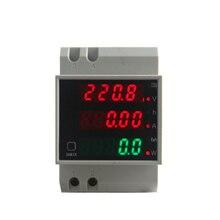 цена на D52-2047 Din Rail Digital 0-100.0A Ammeter AC 80-300V Voltmeter Led Display Amp Volt Energy Power Meter Active Watt Meter