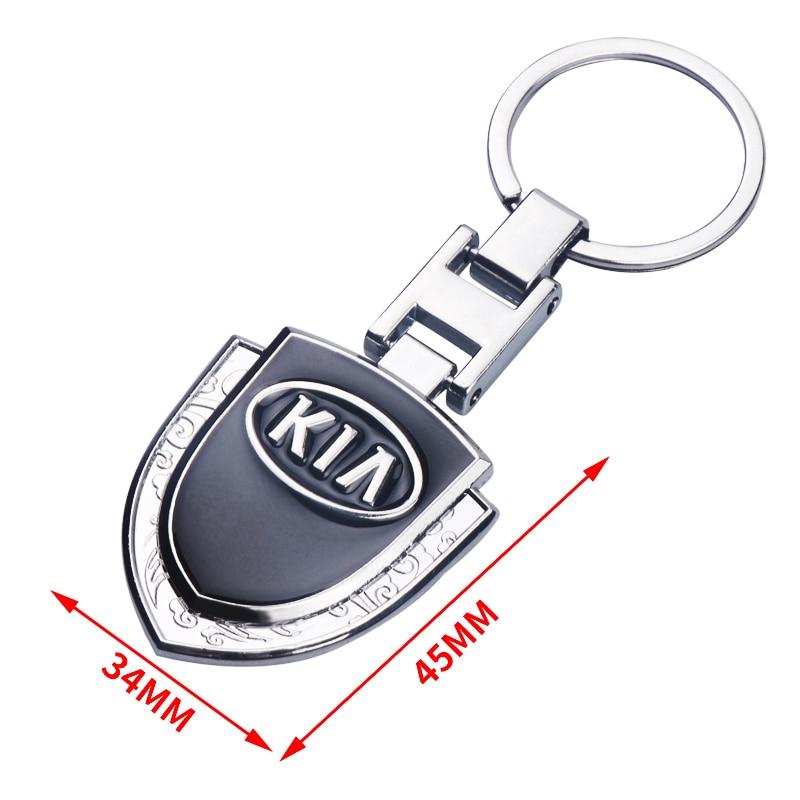 Модные 3D металлический логотип для автомобиля брелок, Брелоки для ключей для kia Ceed Sportage 2018 rio3 4 Soul Cerato K2 K3 K5 ключ автомобиля стильный ключ цепи