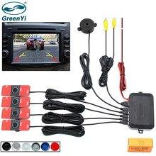 GreenYi czujnik wideo parkowania samochodu czujnik cofania System detektorów 13mm oryginalne płaskie czujniki mogą podłączyć Monitor samochodowy DVD z tyłu aparatu