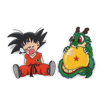 R918 1pcs Dragon Ball Cartoon Sticker For Clothing Applications Patches On Clothes Iron Embroidered Patch Backpack Badge