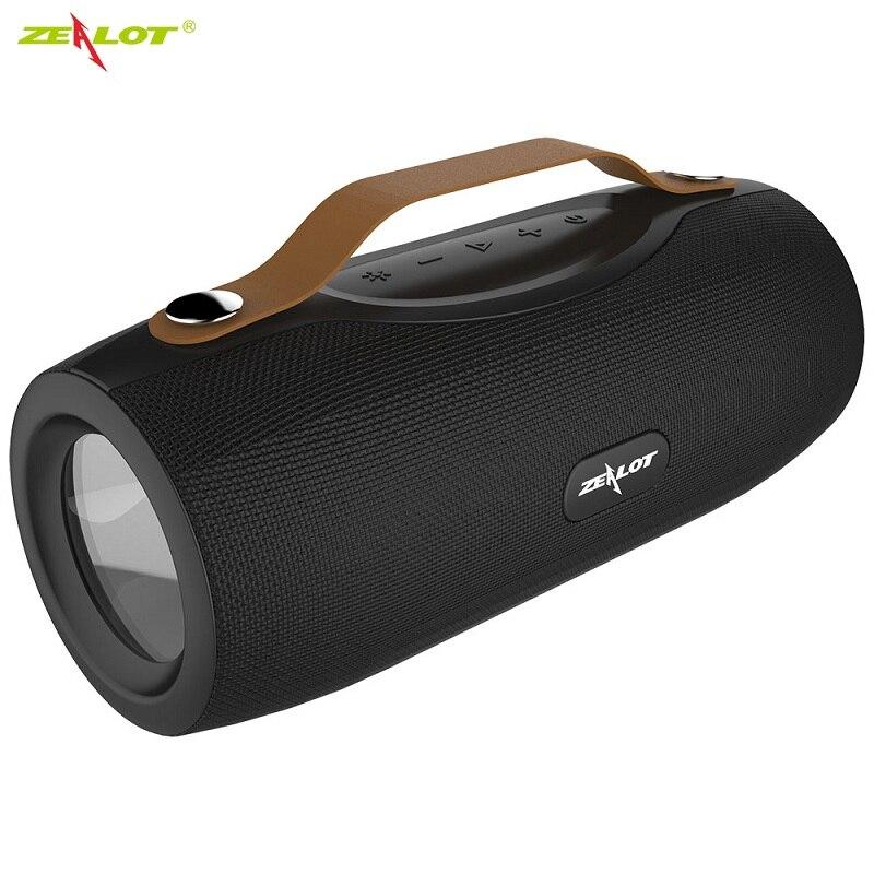 Zélot S29 Portable Bluetooth haut-parleur FM Radio extérieure basse TWS haut-parleur sans fil Subwoofer haut-parleurs sans fil avec micro
