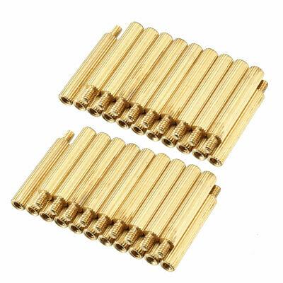 100pcs M2 17+3mm Female Male Thread Brass Round Standoff Spacer Screw PCB Pillar