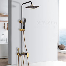цена на Bathroom Shower Faucet Mixer Wall Mount 8Rainfall Shower Set Mixer Tap Brass Tub Spout Bath Shower Mixers